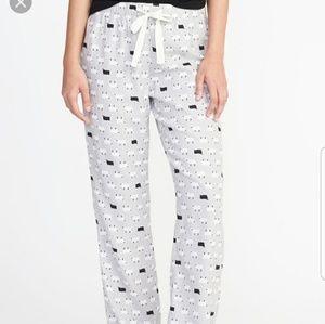Old Navy Printed Flannel Sleep Pants Sheep Print